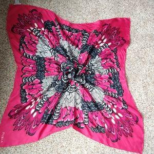Furla Pink Silk Square Scarf